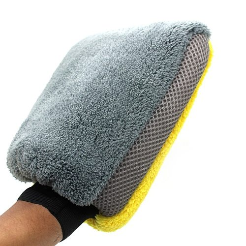 Car Wash Gloves Fine Plush Waterproof Coral Velvet Gloves Car Wash Thick Wipe Cloth Multi-function Car Wash Tool 2021 Neswest