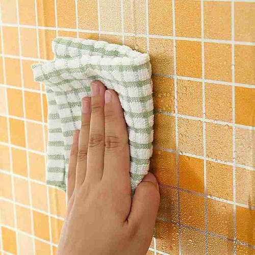45 * 100cm High Temperature Resistant Kitchen Anti-oil Stickers Self-adhesive Foil Plaid Tile Stickers Wall Paper Waterproof