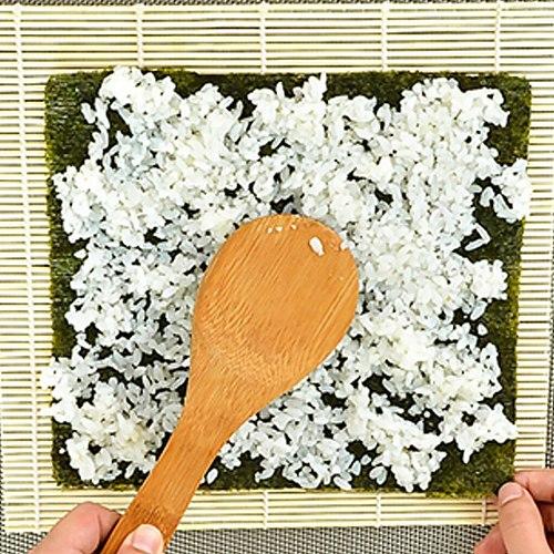 Sushi Curtain Rolling Mat Bamboo Roller Diy Mat Rice Paddle Sushi Spoon DIY Onigiri Rice Roller Kitchen Gadget Sushi Maker Tools