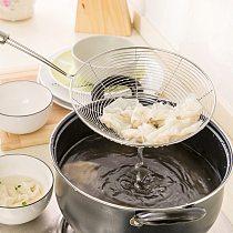 Stainless Steel Mesh Colander Skimmer Strainer Ladle Hot Pot Long Handle Cooking Gadget Kitchen Tools