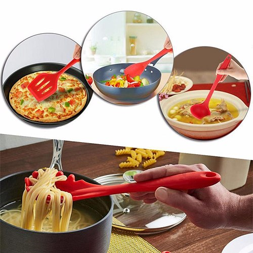 10pcs Utensil Set Cookware Kit Restaurants Baking Kitchen Silicone Cooking for Household Kitchen Easy Supplies