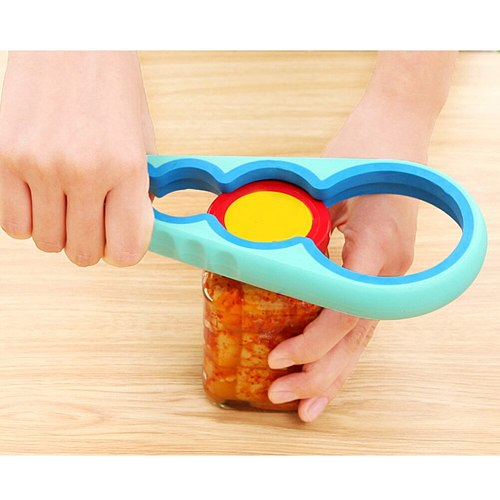 Jar Opener Easy Grip Bottle Opener Twist Off Lid Quick Opening Cooking Everyday Use for Weak Hands and Arthritic