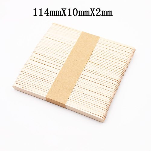 50/100PCS Disposable Wooden Tongue Depressors Wooden Hair Removal Tattoo Waxing Spatula Stick Tongue For Beauty Tools