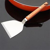 Stainless Steel Pizza Shovel Metal Pizza Peel Shovel With Wood Handle Cake Pancake Pie Paddle Kitchen Baking Tool