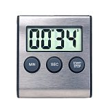 Kitchen Timer Digital Magnetic Digital Chronometer LCD Digital Screen Alarm Magnet Clock Cooking Count Up Countdown Stopwatch
