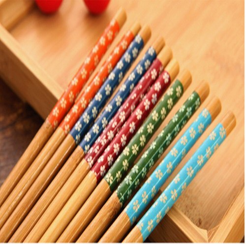 New Kitchen Tableware Supplies Household Bamboo Fried Chopsticks Environmental Protection Reusable Wooden Gift Hotel Chopsticks