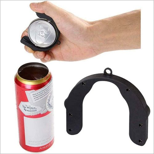 U-shaped Drink Can Opener Lid Remover Universal Topless Beer Top Tool Party Outdoor Fishing Kitchen Accessories