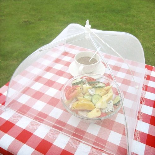 12-18inch Household Food Umbrella Cover Picnic Barbecue Party Anti Mosquito Fly Resistant Net Tent For Kitchen Dinner Table