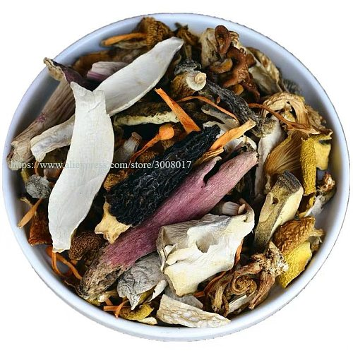 Kinds of Dired Mushroom Mix For Nutrition Svampsoppa Delicious Soup Hot Pot