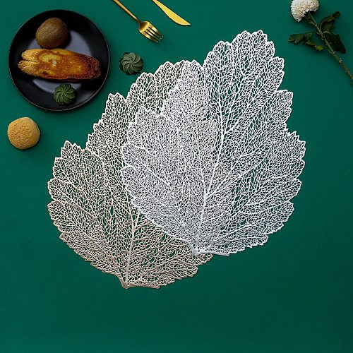 PVC Geometric Pattern Placemat Style Hibiscus Flower Non-Slip Heatproof Home Daily Use DiningTable Decoration Picnic Mat Trivet