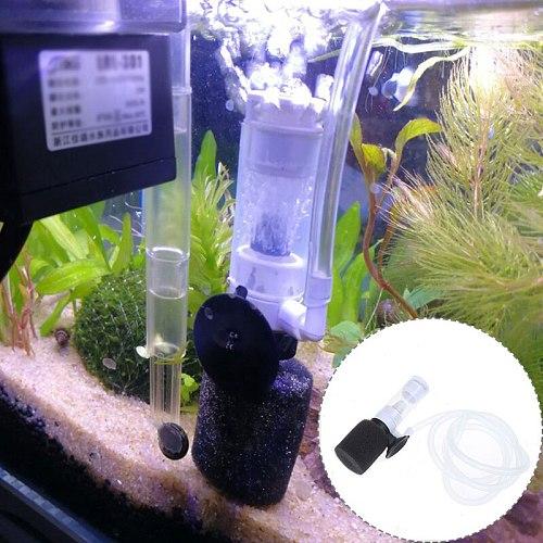 Aquarium Mini Pump Filter for Fish Tank Air Pump Airstone Silent Sponge Filtering Oxygen Submersible Skimmer Water Accessories