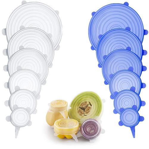 Silicone Stretch Lids Universal Silicone Food Wrap Bowl Pot Lid Silicone Cover Pan Cooking Kitchen Accessories