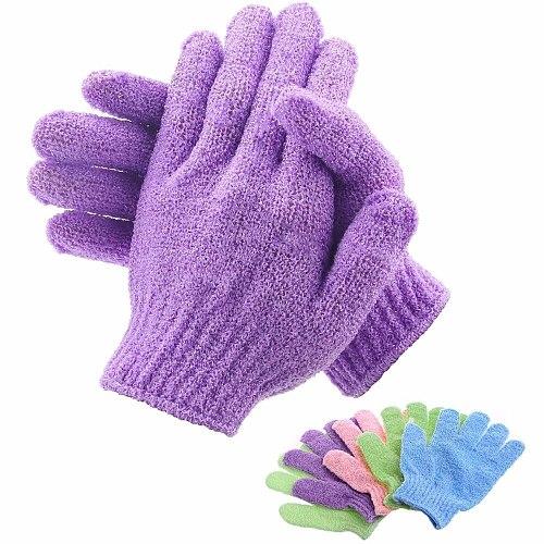 Bath exfoliating gloves shower gel scrub gloves resist body massage sponge to cleanse the skin back brush shower