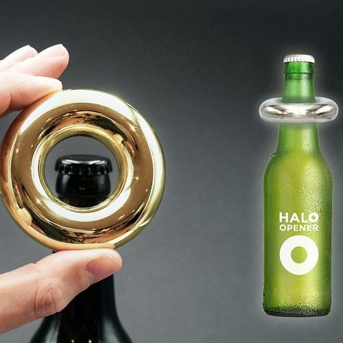 New Portable Beer Bottle Opener Keychain Mini Pocket Round Metal Beverage Opener Wedding Party Favor Gifts Kitchen Accessories