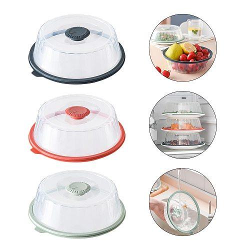 Vacuum Air-tight Food Preservation Sealer Cover Fruit Vegetable Bowl Platter Lid Microwave Stackable BPA Free