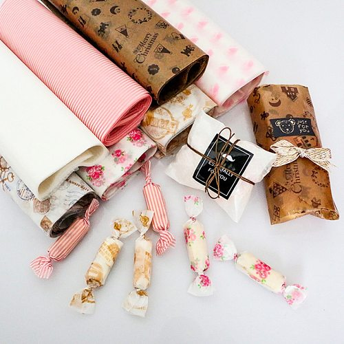 Sugar Candy Wrapper Cookie Food Package 50pcs wax paper food grade grease proof Packing paper