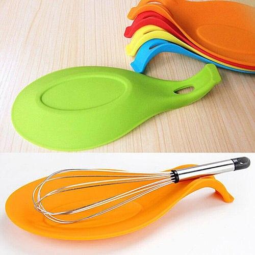 Faroot Spatula Tool Spoon Mat Silicone Heat Resistant Ladle Fork Mat Eggbeater Kitchen Gadget Dish Holder Pad Random Colors