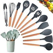 Fashion 1PC Silicone Turner Soup Spoon Spatula Brush Scraper Pasta Server Egg Beater Kitchen Cooking Tools Kitchenware