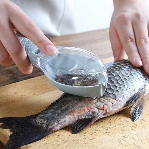Fish Skin Brush Fish Scale Scraper Lazy Easy Use Seafood Tools Fast Remove Fish Knife Cleaning Kitchen Accessories