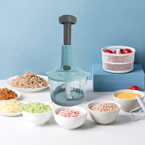 Multifunction Manual Vegetable Chopper Hand Press Food Cutter Onion Nuts Grinder Mincer Shredder Kitchen Accessories