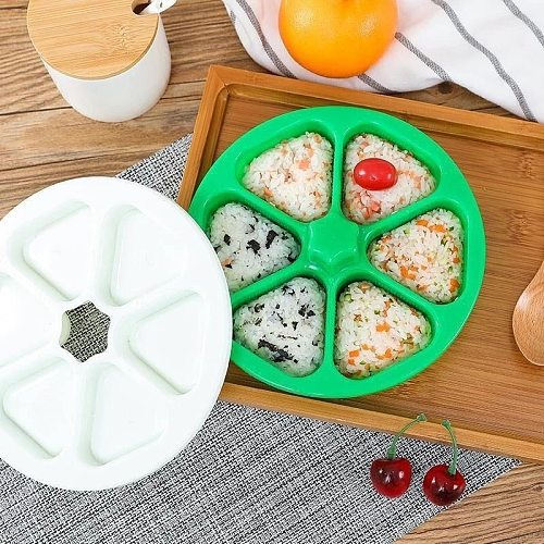DIY Sushi Mold Onigiri Rice Ball Food Press Triangular Sushi Maker Mold Sushi Kit Japanese Kitchen Bento Sushi Tools Accessories