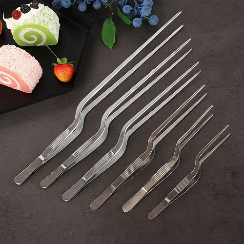1PC Durable Stainless Steel Food Tweezer Seafood Tools BBQ Clip Barbecue Tongs Chef Plating Tool Kitchen Restaurant Supplies