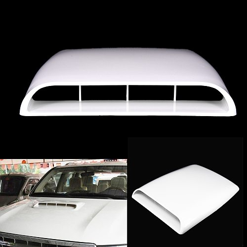 Universal Car Bonnet Hood Scoop Air Flow Intake Vent ABS plastic easy install  Cover Decorative approx. 28*25*3.3cm