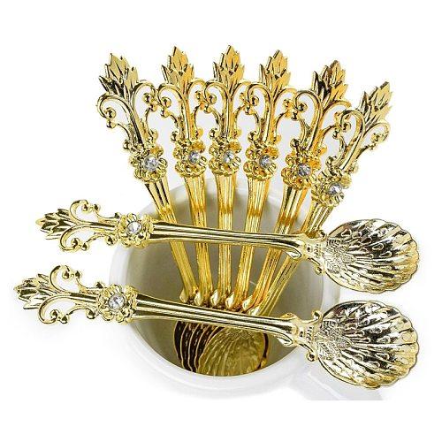 MR 4Pcs 11cm Royal Style Metal Carved Coffee Spoon Set Vintage Table Spoon Antique Tea Spoons Coffee Spoonork Tablespoons