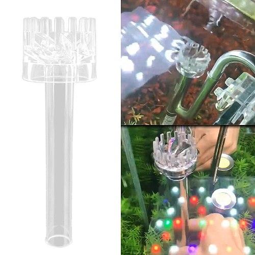 Acrylic Oil Skimmer Aquarium Filter Degreasing Film Float Inlet Outlet Pipe Remove Oil Slick Degreasing Film Basket for