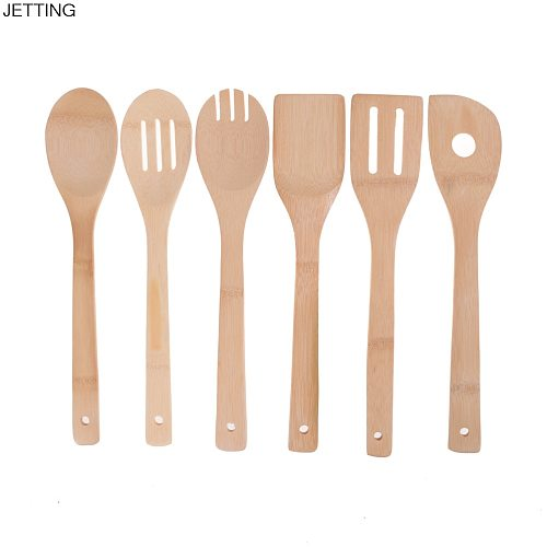 1pc Bamboo Utensil Kitchen Wooden Cooking Tools Bamboo Wood Kitchen Spoon Spatula Mixing Professional Drop Shipping