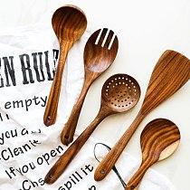 Natural Wood Dinner Food Shovel Spatula Spoon Food Shovel Cooking Utensil Nonstick Cooking Kitchen Supplies