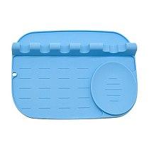1pc Tabletop Pot Lid Mat Cookware Holder Silicone Utensil Storage Rack