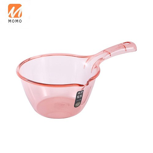 Household Kitchen Water Scoop Thickened Plastic Water Spoon Bath Scoop Water Float Ladle Long Handle Creative Shampoo Spoon