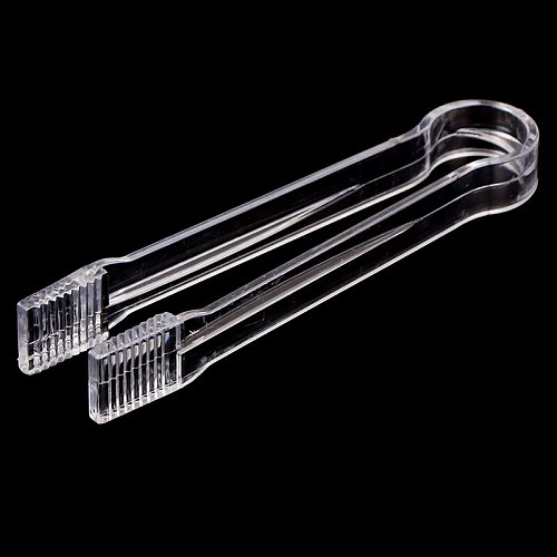 1PC Food Salad Wedding Party Bar Buffet Sweet Bread Cake Clip Ice Tongs Clip Stainless steel/ABS