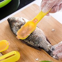 Practical Fish Scale Remover Scraper Cleaner Kitchen Tool Peeler Scraping Fish Cleaning Tool Lid Kitchen Fast Remove Fish knife