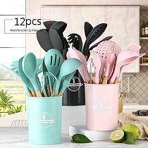 Silicone kitchen utensils and appliances can withstand high temperature without damaging the pot and spatula baking set