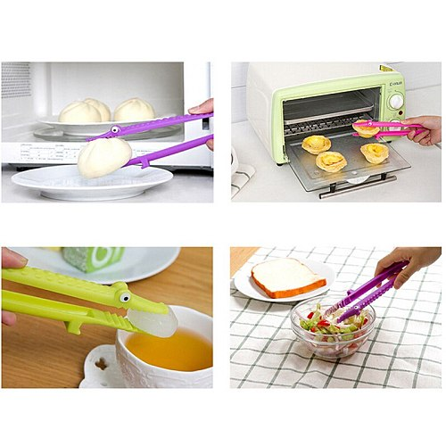 1 PC Food BBQ Salad Steak Bread Clip Clamp Hot Selling Cooking Silicone Kitchen Tongs