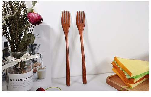 Tableware Wooden Spoon Fork Bamboo Kitchen Cooking Utensil Tools Soup-teaspoon Tableware Soup Scoop Noodle Spoon Посуда