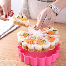 Cake Pan Set Sushi Mold Food Grad PP Material Triangle Cakes Mould Muffin Baking Fondant Rice Ball Kitchen Sushi Mold Tools