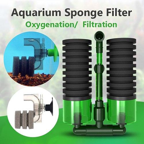 Aquarium Filter Oxygenation Aeration Biochemical Sponge Fish Tank Air Pump Skimmer Pets Supplies Shrimp Pond Clean Fish Feces
