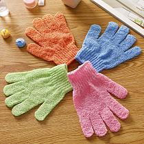 1 Pair Hand Shape Shower Scrubber Exfoliating Back Body Massage Mitten Skin Moisturizing Spa Bath Glove