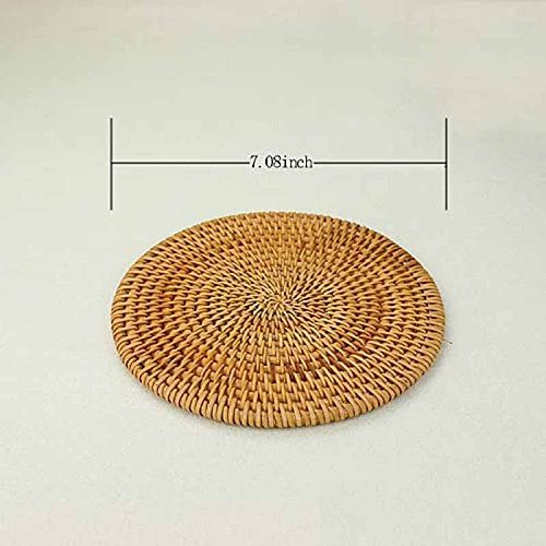 HOT-4 Pcs Rattan Trivets for Hot Dishes-Insulated Hot Pads,Durable Pot Holder for Table,Heat Resistant Mats for Kitchen