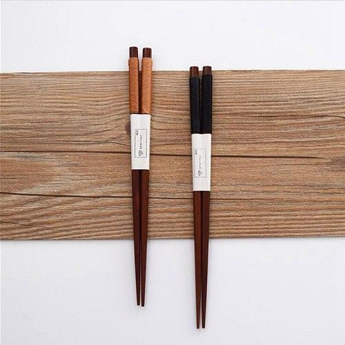 Japanese Reusable Bamboo Natural Wood Chopsticks Sushi Food Tangled Minimalist Wooden Chop Sticks Couple Chopstick 2021 Dropship