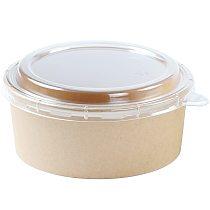 100PCS Paper Food Container Disposable Round Salad Container Meal Prep Container Pigment Paint Box Palette Reusable