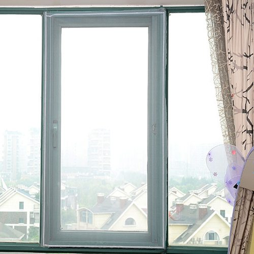 Window Screen DIY Custom Mesh Material Indoor Insect Screen Window Netting Summer Air Tulle Invisible Anti-Mosquito Nets Velcros