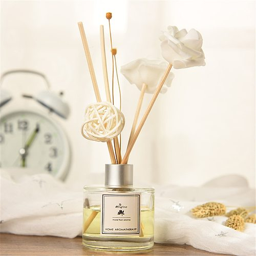 @ Reed Oil Diffusers with Natural Sticks, Glass Bottle and Scented Oil 50ML essential oils set Home Decor Air Purifier hogar