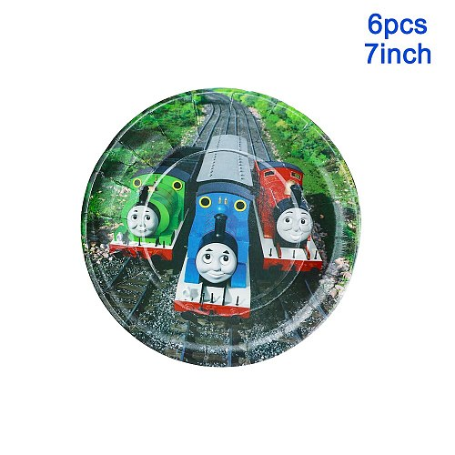 Thomas&Friends Kids Birthday Party Balloon Paper Cups Plates Tablecloth Baby Shower Decorations Disposable Tableware Supplies