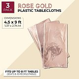 137*274cm Rose Gold Tablecloth Gold/silver Dot Table Cover For Adult Happy Birthday Party Supplies Wedding Decorations