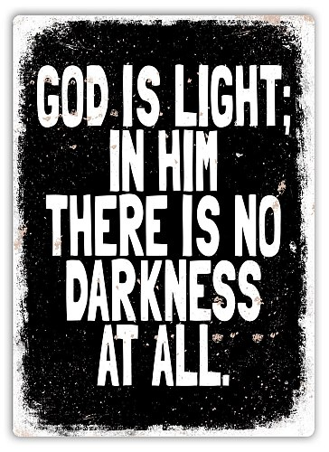God Is Light -Metal Wall Sign Plaque Art- Lord Prayer Church Priest Christian(Visit Our Store, More Products!!!)