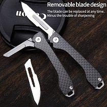 Carbon fiber folding knife multifunctional emergency medical EDC portable self-defense knife